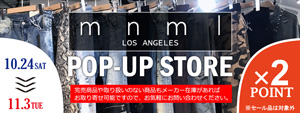 mnml POP-UP STORE