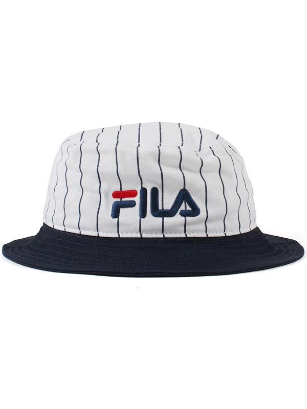 "1f181c32e FILA (フィラ) ""FLS COTTON TWILL BUCKET HAT"""