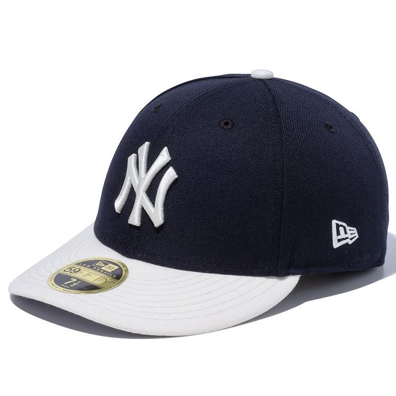 """画像1: NEWERA(ニューエラ)""""LP 59FIFTY ニューヨーク・ヤンキース MLB 2トーン ネイビー / クローム グレーアンダーバイザー"""" (1)"""
