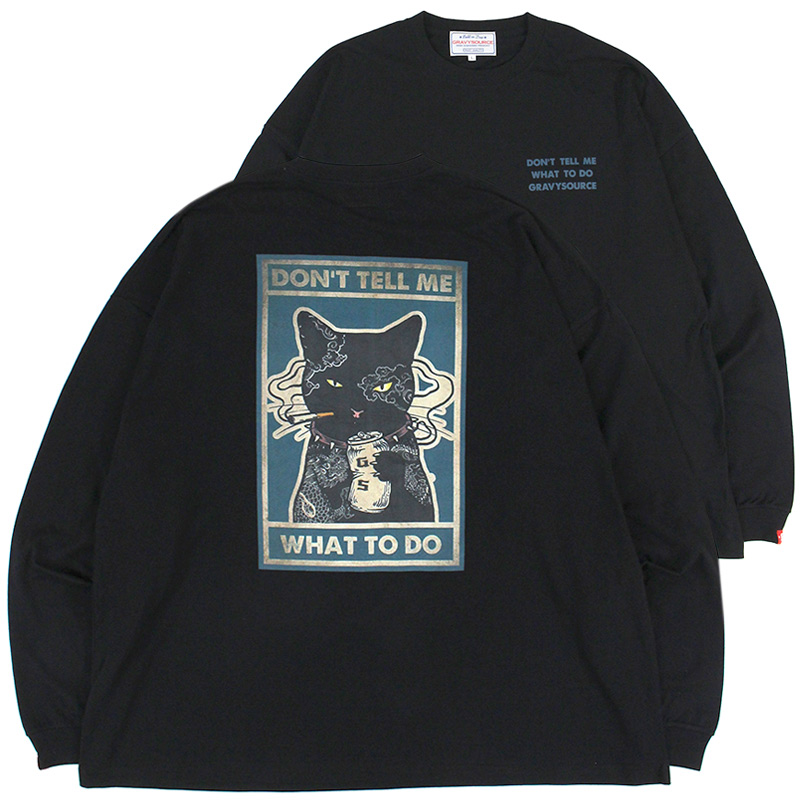 """画像1: GRAVYSOURCE (グレイビーソース) """"CAT L/S TEE"""" (1)"""